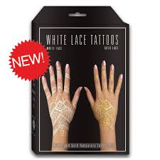 about earth henna white lace u0026 silver glitter white henna