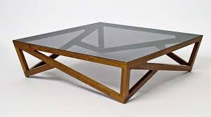 Wood Glass Coffee Table Glass Coffee Tables With A Hardwood Lattice Base Wood And Glass