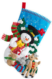 216 best bucilla felt christmas stockings images on pinterest