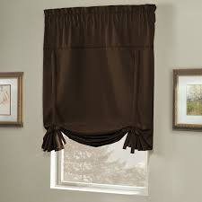 Tie Up Window Curtains Amazon Com United Curtain Blackstone Blackout Tie Up Shade 40 By