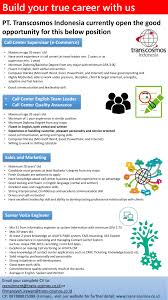Cv For Call Centre Build Your Career With Us Open Vacant R Firmansyah Irawan