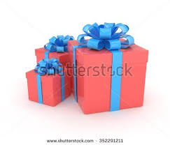 boxes with bows three gift boxes bows isolated on stock illustration 426383998