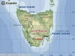 map of tasmania australia of tasmania australia