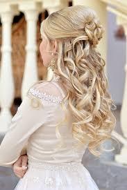 Hochsteckfrisurenen Lange Haare Halb Offen by Brautfrisur Mit Schönen Locken Brautfrisur