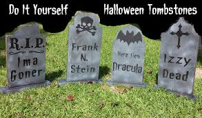 tombstone decorations diy graveyard tombstones sharingsaintromain