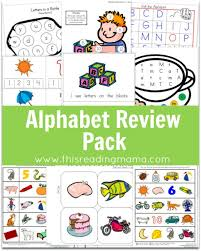 alphabet review pack updated u0026 expanded