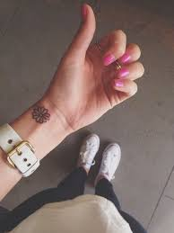 amazing small flower tattoos for wrist design idea