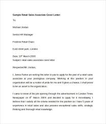 Cover Letter For Sales Associate Position Sale Associate Cover Letter Sales Associate Cover Letter S