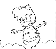 amy rose fat fly coloring page wecoloringpage