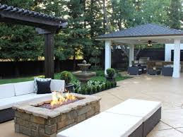 Covered Backyard Patio Ideas Fire Pits Design Awesome Brick Patio Designs With Fire Pit Best