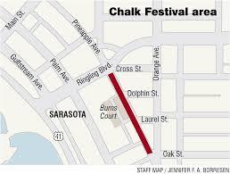 Sarasota Map Denise Kowal U0027s Sarasota Chalk Festival Crusade
