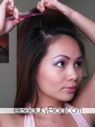 poof at the crown hairstyle ebeautyblog com how to make big hair poof in 10 seconds