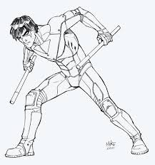 nightwing robin coloring pages coloring nightwing