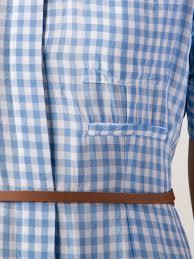 altuzarra gingham belted shirt dress in blue lyst