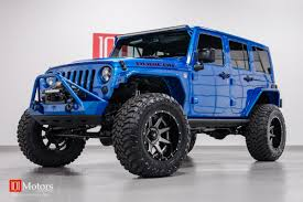 starwood motors jeep blue 2015 jeep wrangler unlimited rubicon in hydro blue aev 6 4l vvt