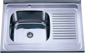 Interesting Double Bowl Kitchen Sink With Drainboard Steel Top - Kitchen sinks with drainboards