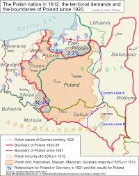 Map Poland Poland Map 1912 And Territorial Demands Since 1920 History