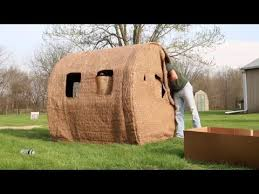 How To Make A Hay Bail Blind Redneck Hay Bale Blind Set Up Long Branch Outdoors Youtube