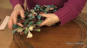 transform your fabric scraps into a decorative wreath youtube