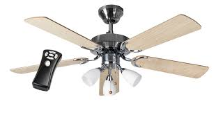 eurofans jersey 42 stainless steel ceiling fan light remote