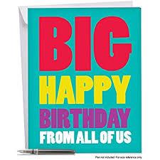 big birthday cards j3900bdg jumbo birthday card big happy birthday from