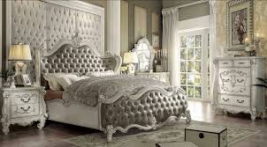 romantic hollywood swank bedroom set with king size wooden bed