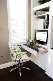 create a family room office nook in a small space pink