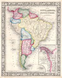 Maps Of South America File 1864 Mitchell Map Of South America Geographicus