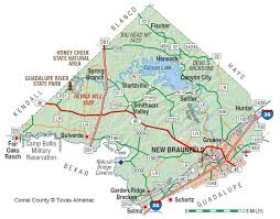 Texas State Park Map by Comal County The Handbook Of Texas Online Texas State