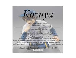 meaning of the japanese name kazuya is peace or