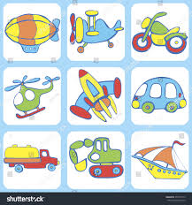 cute seamless baby pattern set transport stock vector 437870113