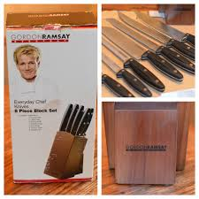 hells kitchen knives gordon ramsay everyday chef knives 8 block set review