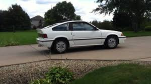 Honda Crx 1987 1986 Honda Crx Si With Rear Sway Bar Youtube