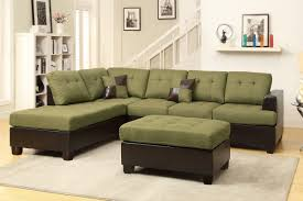Sectional Sofa With Ottoman Abby Green Sectional Sofa W Ottoman