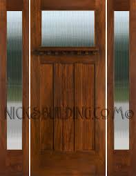 wood and glass exterior doors craftsman style doors and sidelights