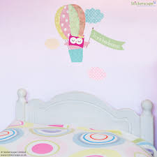 personalised owl and balloon wall sticker stickerscape uk personalised owl and balloon wall sticker