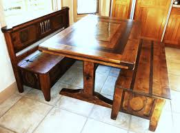 breakfast nook table with storage bench home