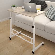 Laptop Sofa Desk Adjustable Portable Sofa Bed Side Table Laptop Desk With Wheels