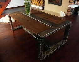 Rustic Coffee Table Diy Factory Cart Coffee Table Diy Handmade Reclaimed Wood Steel Coffee