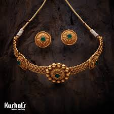 vintage jewelry choker necklace images South traditional antique jewellery choker necklace studded with png