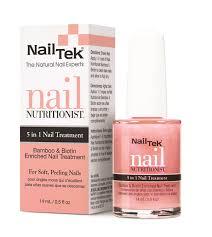 grow long and strong nails with nail tek u0027s bamboo and biotin