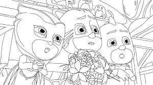 30 pj masks coloring pages 2017