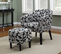 Unique Accent Chairs by Exterior Cool Black Accent Chairs And Ottoman Set With Stainless
