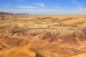 colored sand different colored sand in negev desert israel stock photo