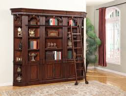 Bookcase Ladder And Rail by House Wellington Library Bookcase Wall With Ladder In Brown Mahogany