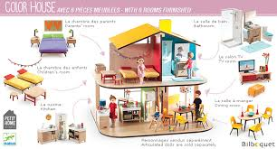 djeco cuisine color house wooden dollhouse with furniture djeco baby toys