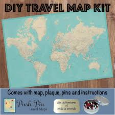Diy World Map by Diy Teal Dream World Push Pin Travel Map Kit Push Pin Travel Maps