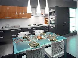 Dining Furniture For Kitchens  Comfortable Modern Kitchen - Kitchen design with dining table