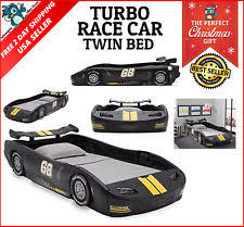 kids toddler to twin bed car convertible lights race bedroom
