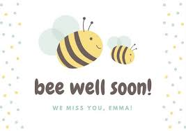 get well soon cards bee illustrated get well soon card templates by canva